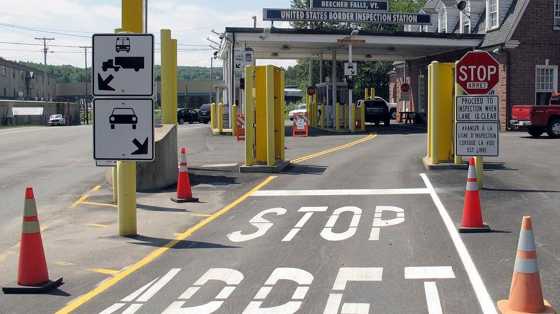 the U.S. border crossing post at the Canadian border between Vermont and Quebec, Canada. (AP)