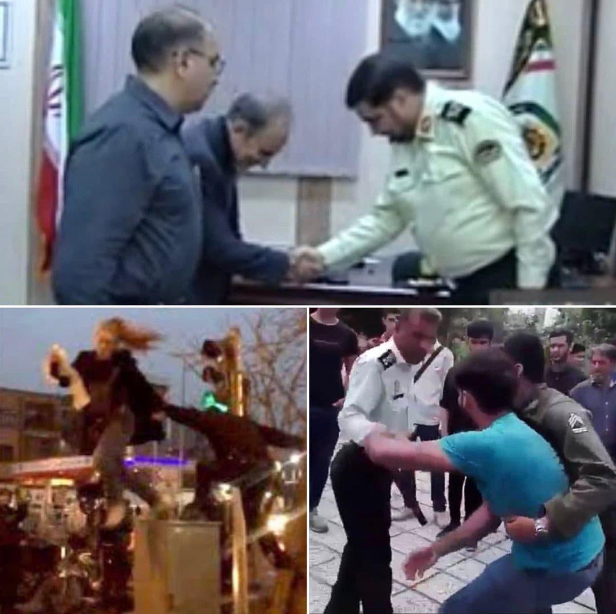 ناشطون قارنوا معاملة الشرطة لنجفي مع الناس العاديين
