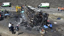21 killed in fiery Mexico road accident