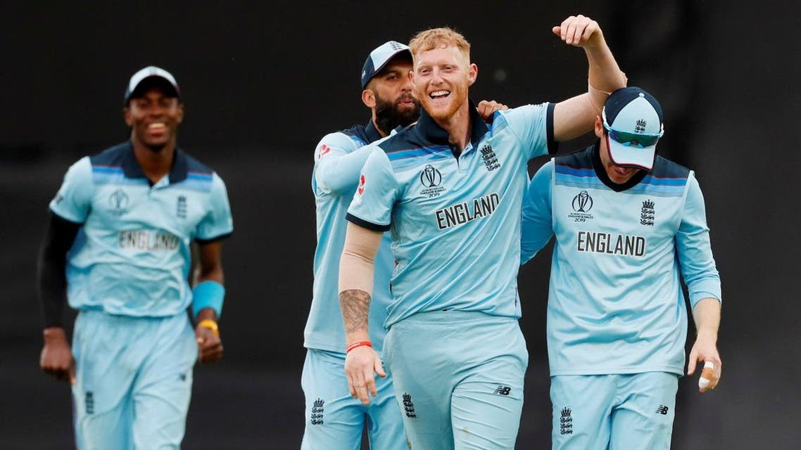England's Ben Stokes celebrates after the match against South Africa at the Oval in London on May 30, 2019. (Reuters)
