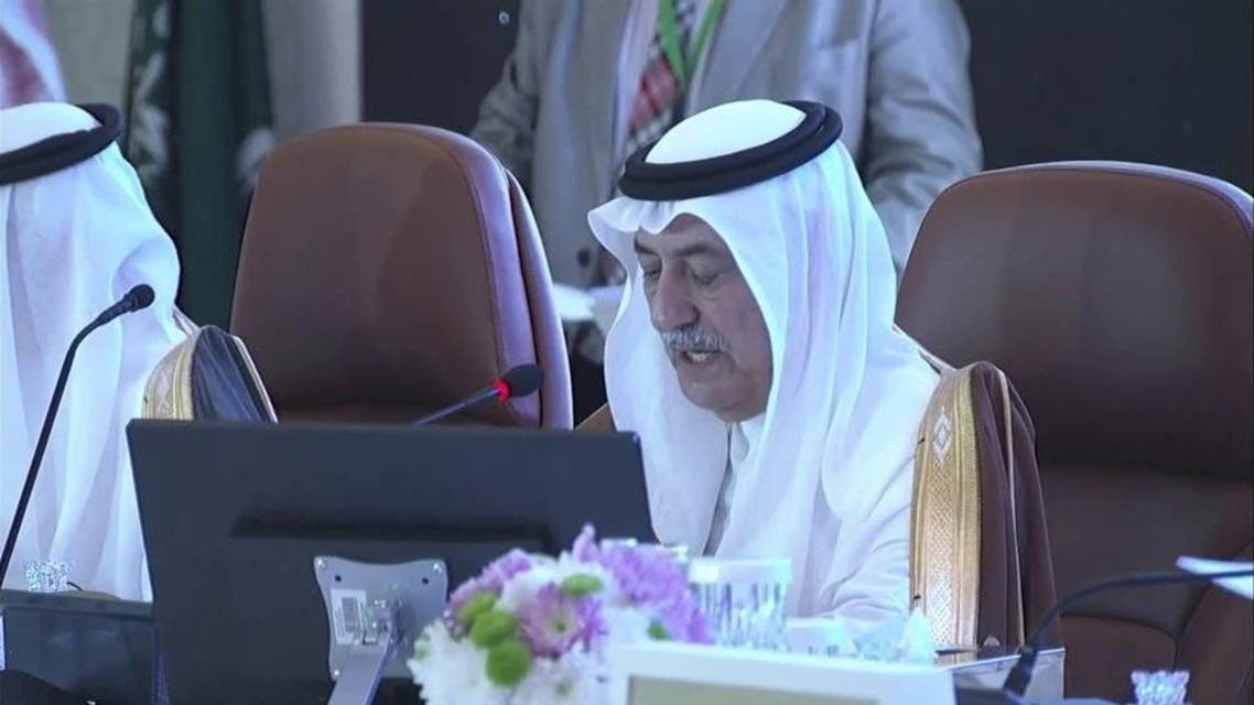 Saudi Foreign Minister Ibrahim bin Abdulaziz al-Assaf, speaking at the ministerial meeting of the Organization of Islamic Cooperation in Jeddah city on Wednesday. (Supplied)