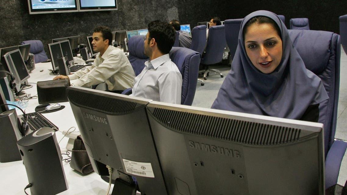 Iranian female news anchor - AFP