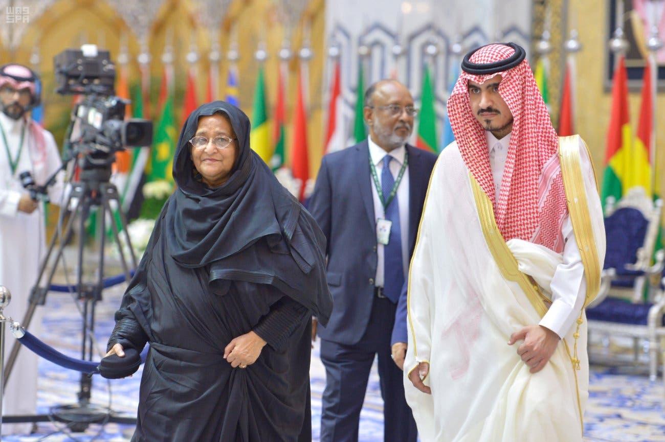 Bangladesh Prime Minister Sheikh Hasina arrives in Jeddah ahead of the Islamic Summit in Mecca. (SPA)