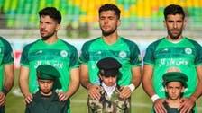 """ایرانی فٹ بال گراؤنڈ میں """"جنگ کے نونہال"""" نمودار"""
