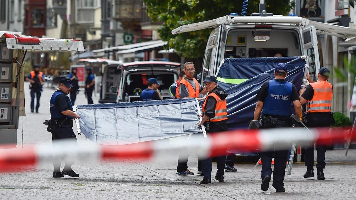 Swiss police arrive to set up a barrier at a crime scene. (File photo: AFP)