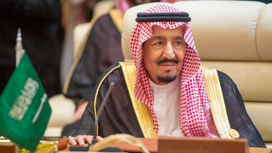 Saudi Arabia's King Salman at GCC emergency summit in Mecca, May 30, 2019. (AFP)