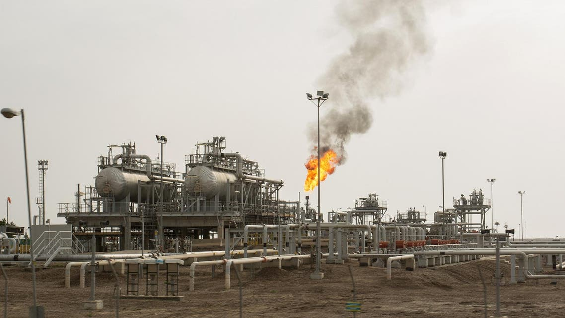 An oil installation is pictured in the massive Majnoon oil field. (File photo: AFP)