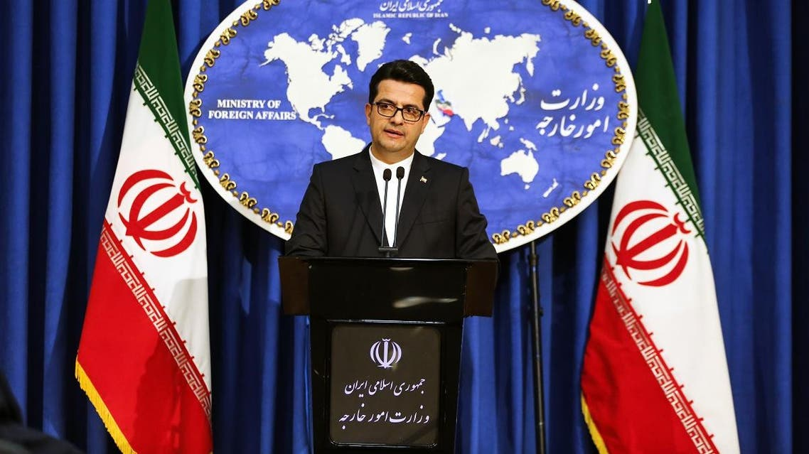 Abbas Mousavi, spokesman for Iran's Foreign Ministry, gives a press conference in the capital Tehran on May 28, 2019. (AFP)