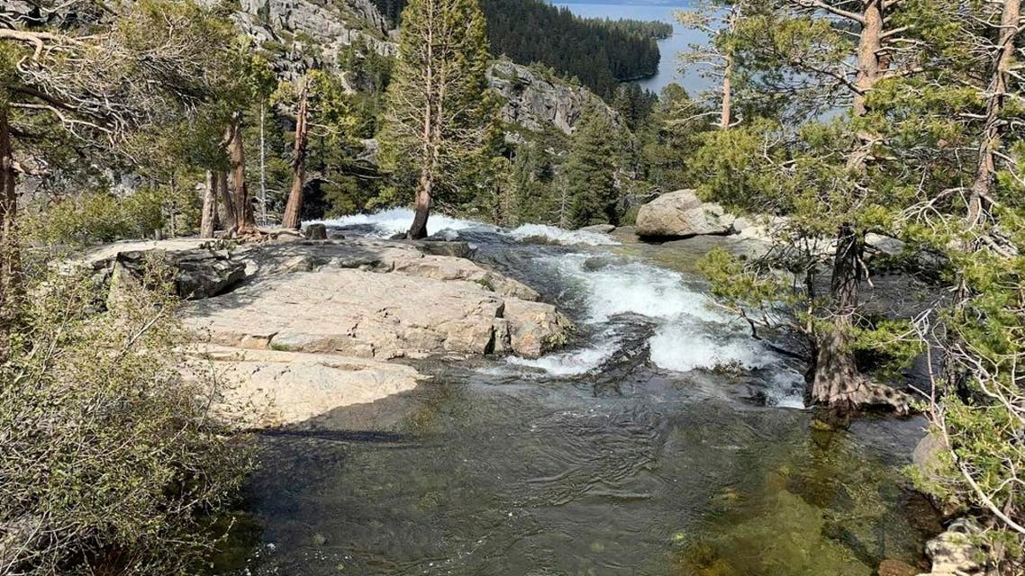 This Friday, May 31, 2019, photo released by the North Tahoe Fire Protection District shows the Eagle Falls at Emerald Bay State Park in South Lake Tahoe, Calif. (AP)