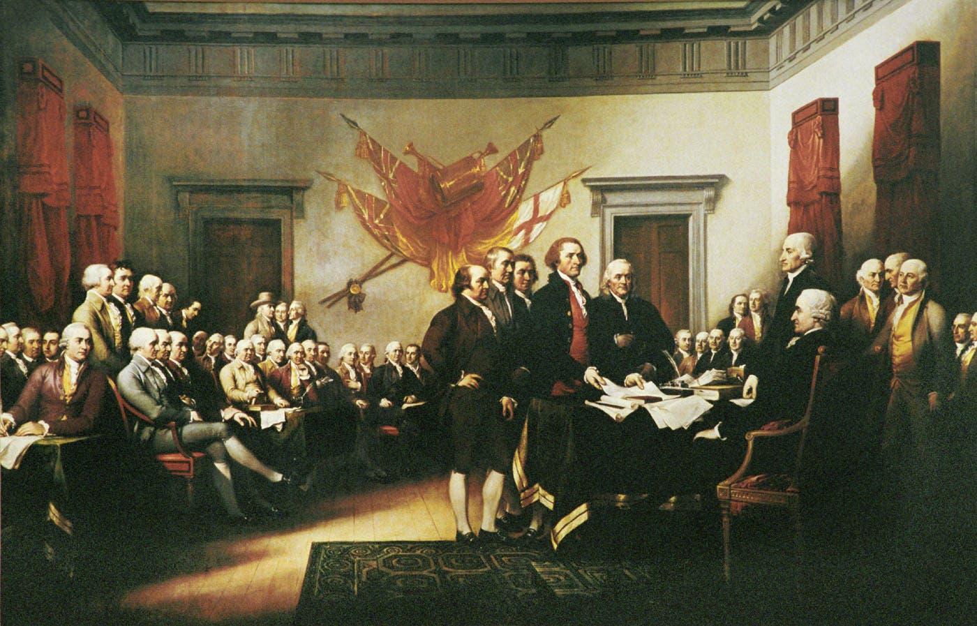 عدد من الآباء المؤسسين بالولايات المتحدة الأميركية