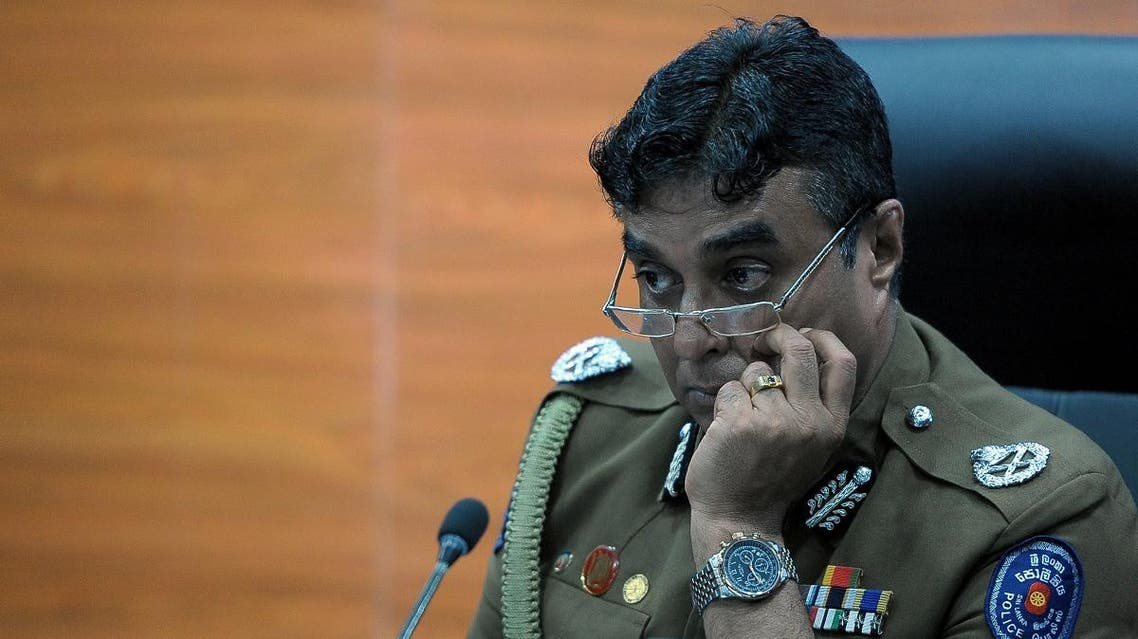 Sri Lanka police chief Pujith Jayasundara looks on after launching the first on-line service delivery of the Sri Lankan police at the headquarters in Colombo on March 7, 2017. (AFP)