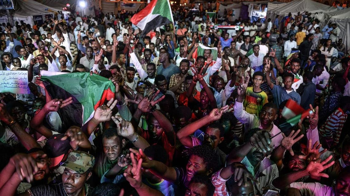 Sudan sit-in. (AFP)