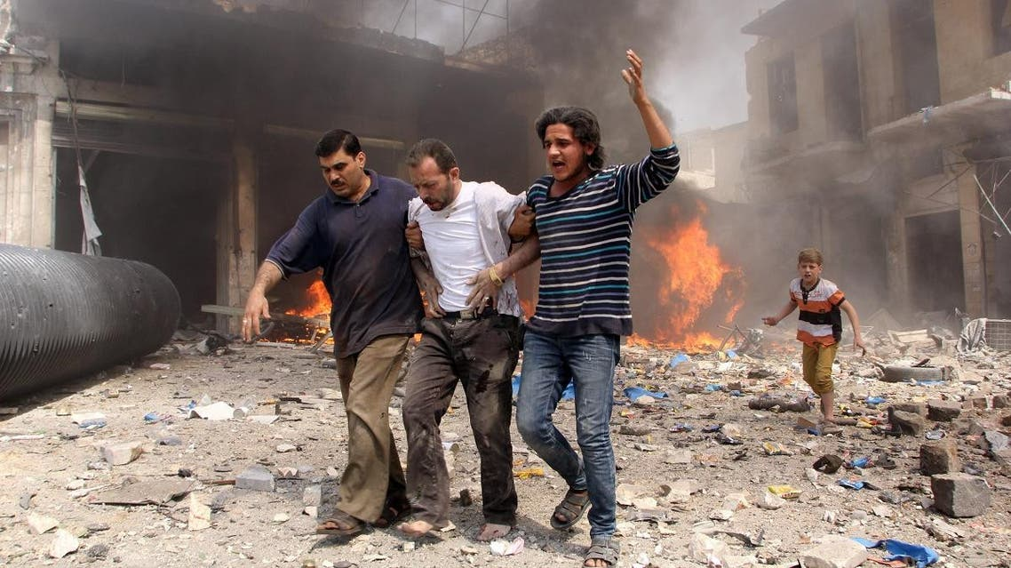 Syrian government forces hit an open market in the northern city of Aleppo. (File photo: AFP)
