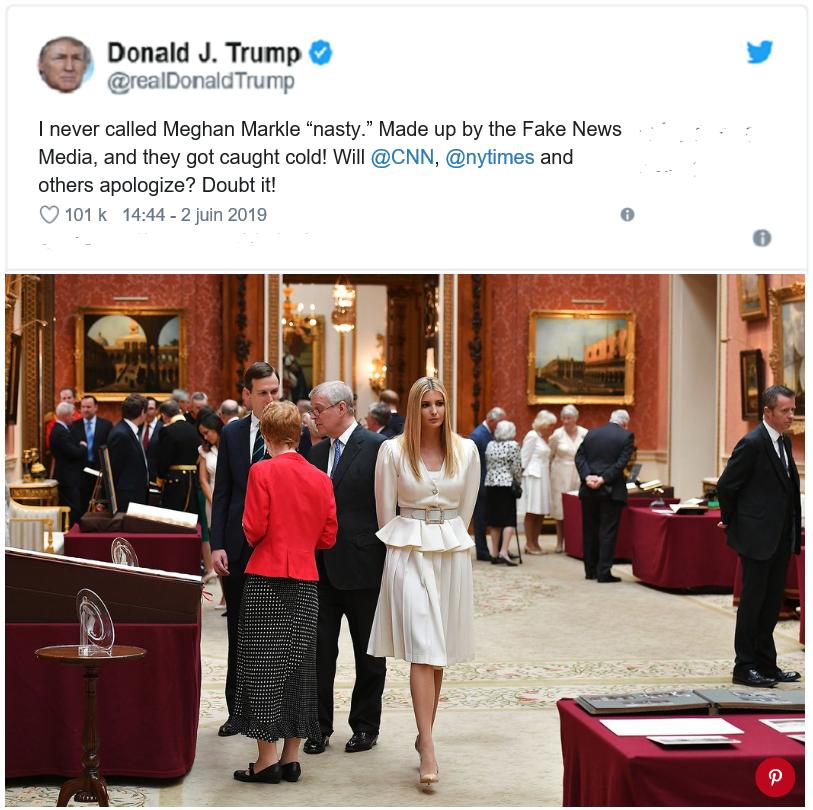التغريدة النافية كلمة بذيئة، أما في الصورة فنرى الجميع إلا الأمير هاري