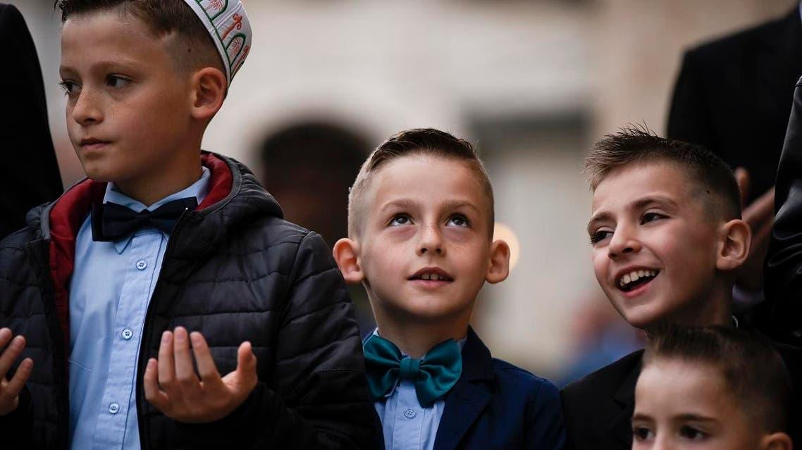 Eid al-Fitr celebration in Kosovo June 4, 2019. (AFP)
