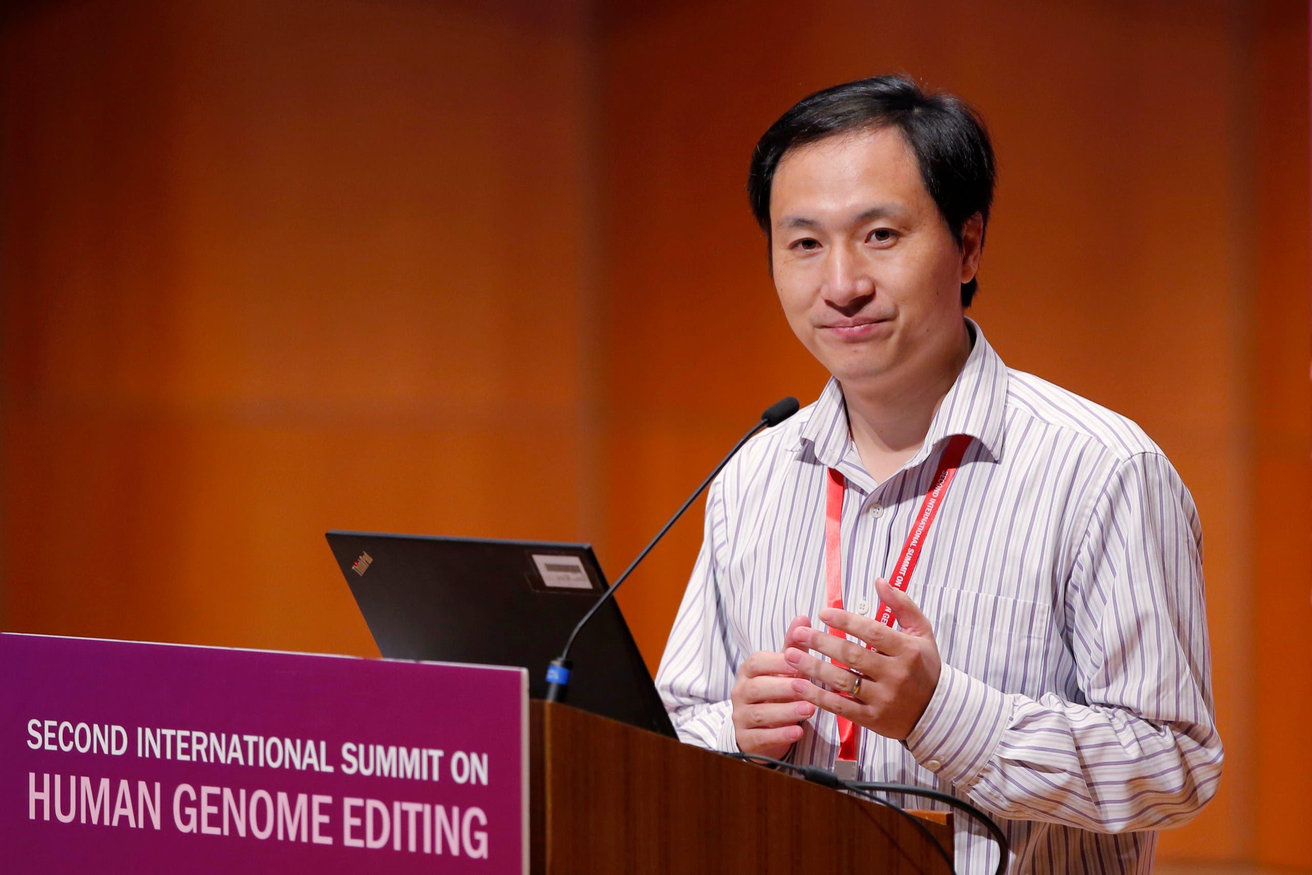 الباحث الصيني هي جيانكوي الذي قام بإدخال التغييرات الجينية على الأطفال