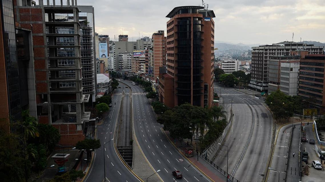 View of the Libertador Avenue at Chacao neighborhood in Caracas on March 9, 2019. (AFP)