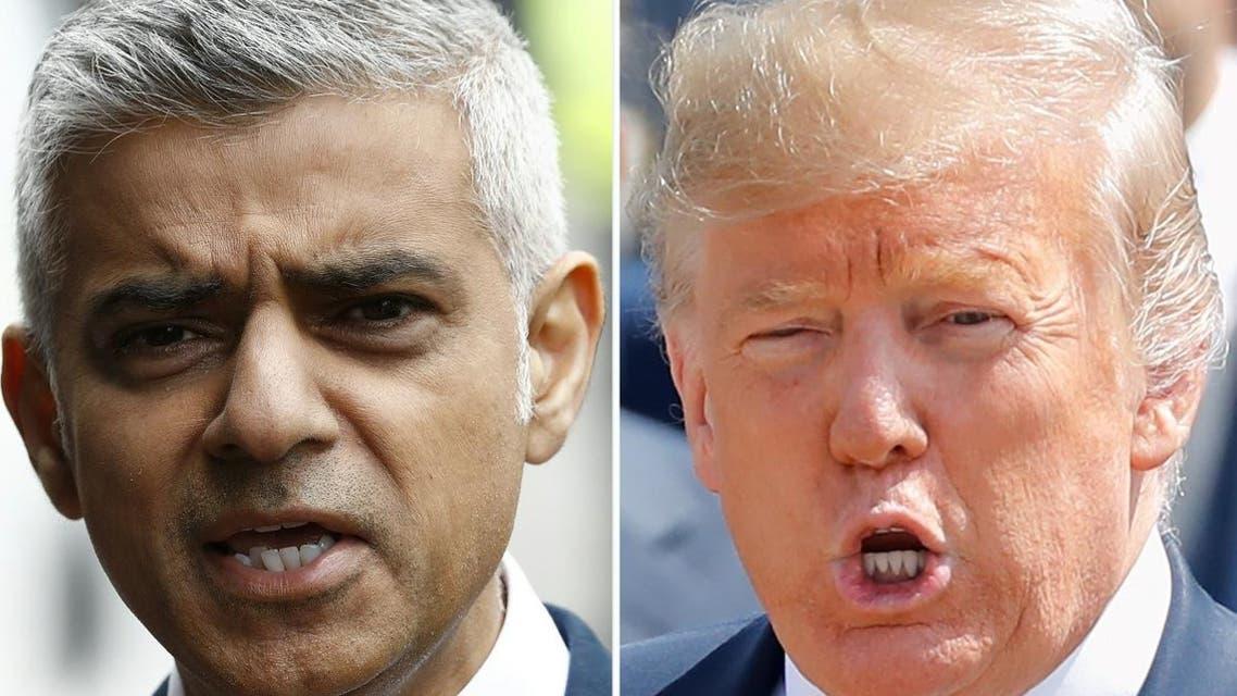 A combo of Sadiq Khan and Donal Trump. (AFP)