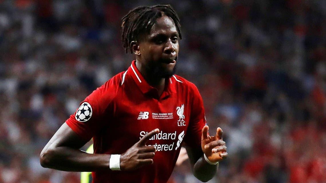 Origi celebrates after scoring Liverpool's second goal in Madrid on June 1, 2019.  (Reuters)
