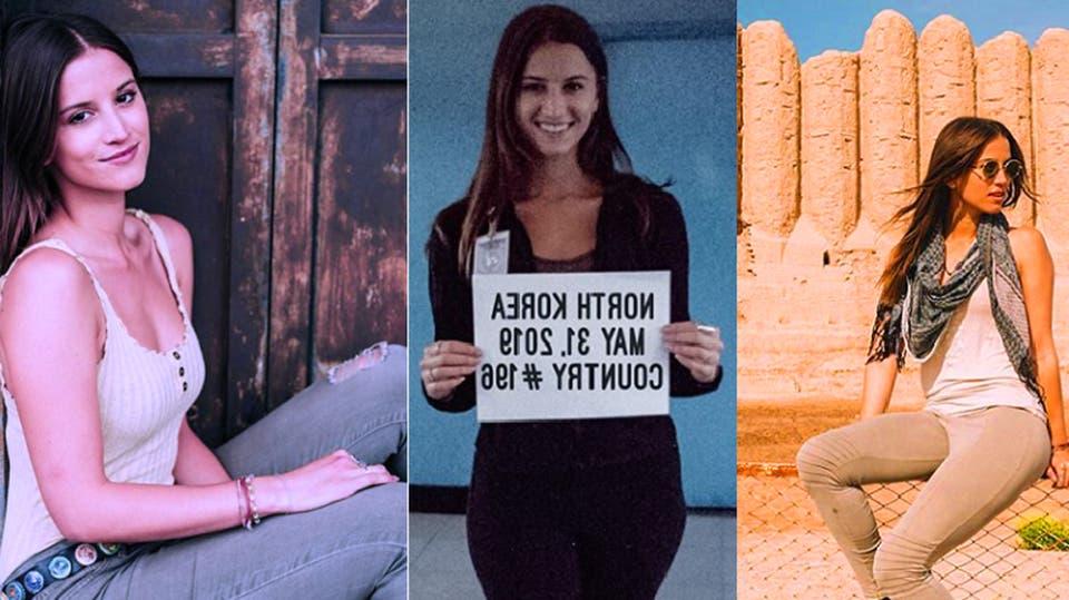 فيديو وصور لأميركية عمرها 21 أصبحت أصغر من زار كل الدول