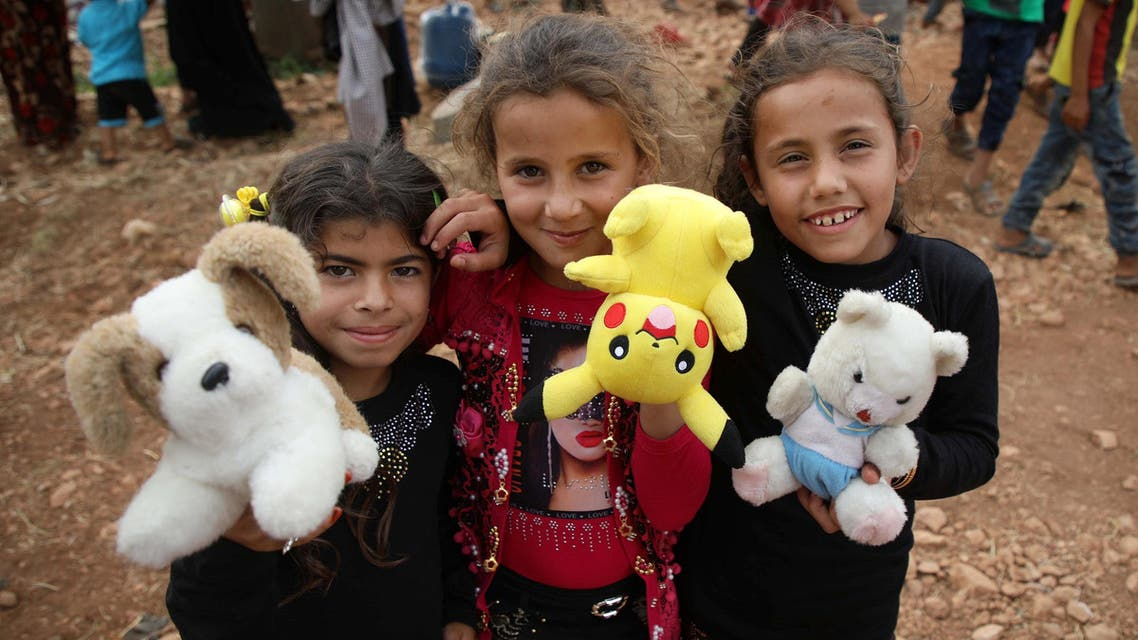 This is the eighth Eid al-Fitr that Syria has spent at war. (AFP)