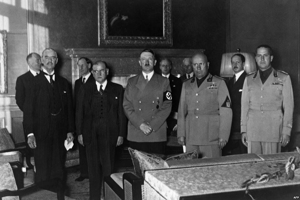 صورة من مؤتمر ميونخ سنة 1938