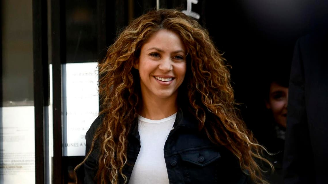 Colombian singer Shakira leaves a court in Madrid on March 27, 2019. (AFP)