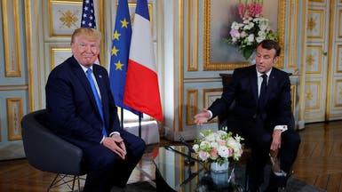 ترمب من باريس: نريد خفض نفوذ إيران في المنطقة