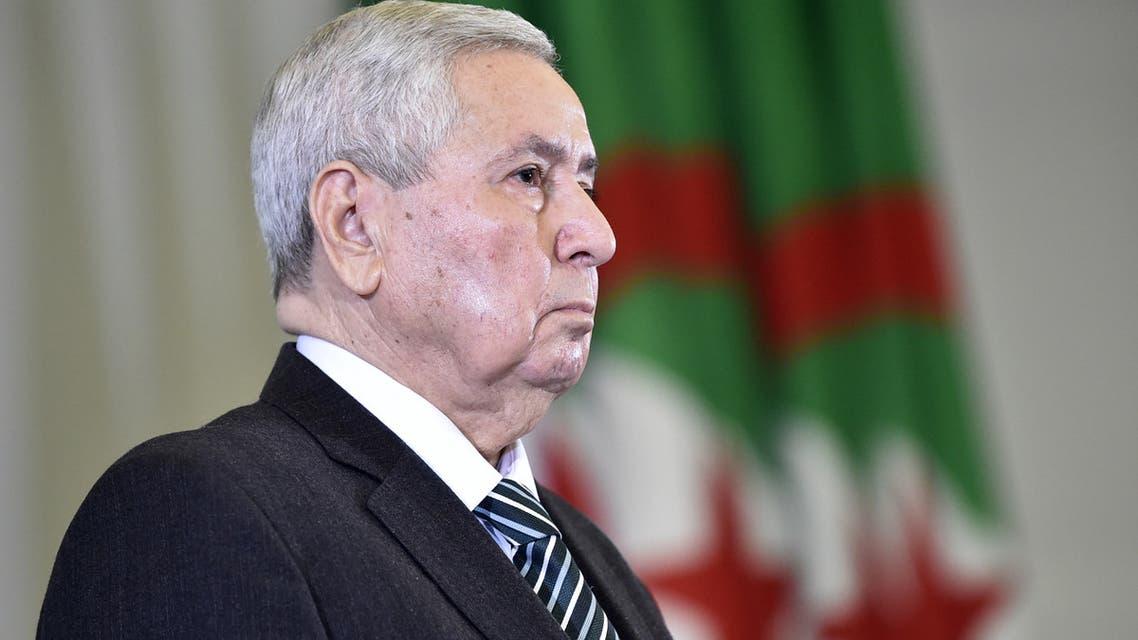 الرئيس الجزائري الانتقالي عبد القادر بن صالح