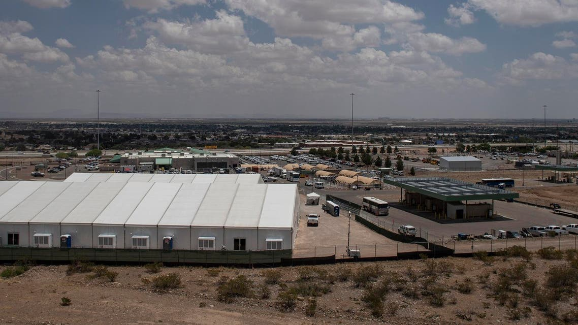 A temporary holding facility for migrants that has been in use since early May - US immigration - AFP