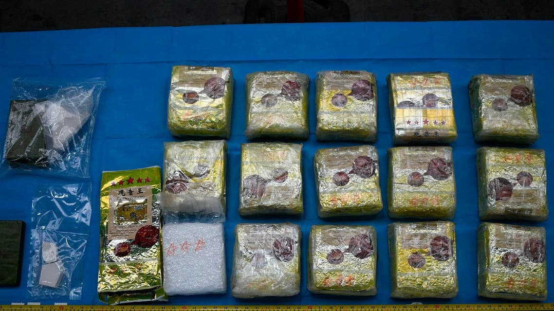 This image released on Friday, June 7, 2019 by Australian Federal Police, shows methamphetamine seized by Australian Border Force. (AP)