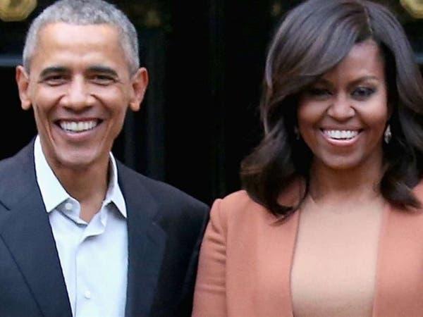 الزوجان أوباما يوقعان عقدا لإنتاج سلسلة من التدوينات الصوتية