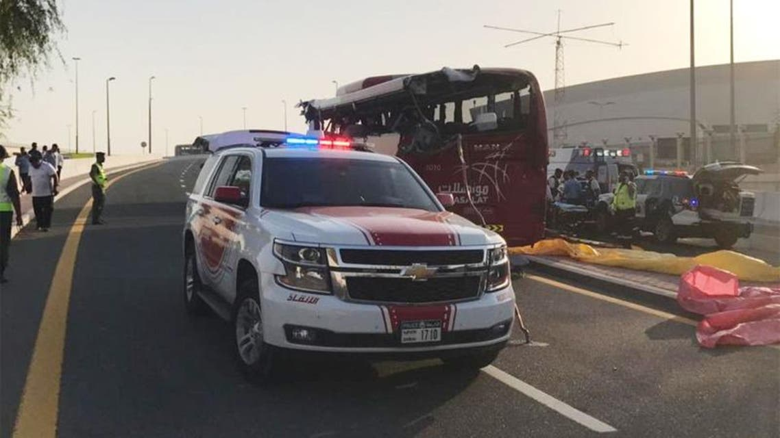 Dubai: road accident 17 dead and many injured