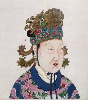 رسم تخيلي لإمبراطورة الصين وو شتيان