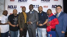 Michael B. Jordan presents Central Park 5 with courage award