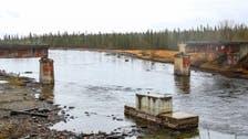 شاهد كيف فكك لصوص المعادن جسراً ونهبوا 56 طنا من الحديد