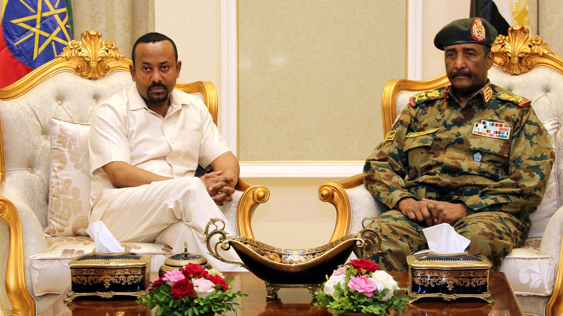 رئيس الوزراء الإثيوبي ورئيس المجلس الانتقالي بالسودان