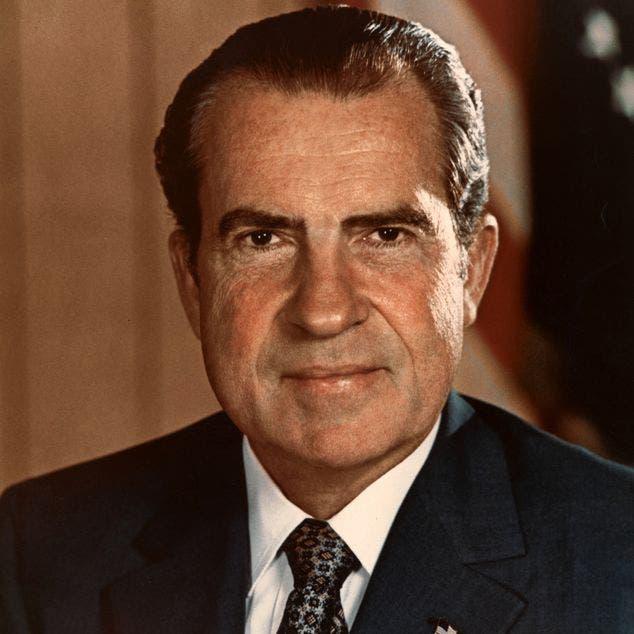 صورة للرئيس الأميركي ريتشارد نيكسون