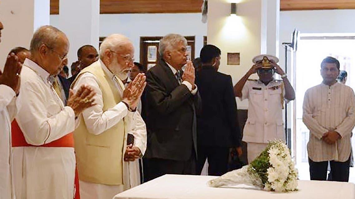 India's Modi visits Sri Lanka AFP