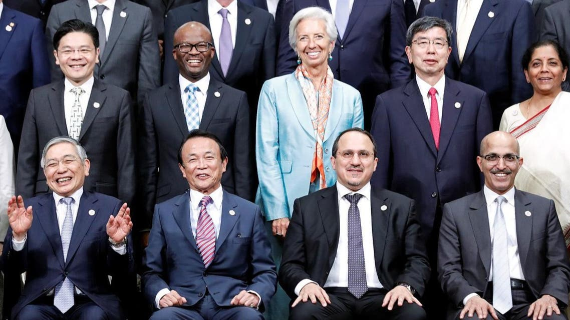 A group photo of the G20 Finance Ministers and Central Bank Governors Meeting in Fukuoka, Japan, on June 9, 2019. (Reuters)