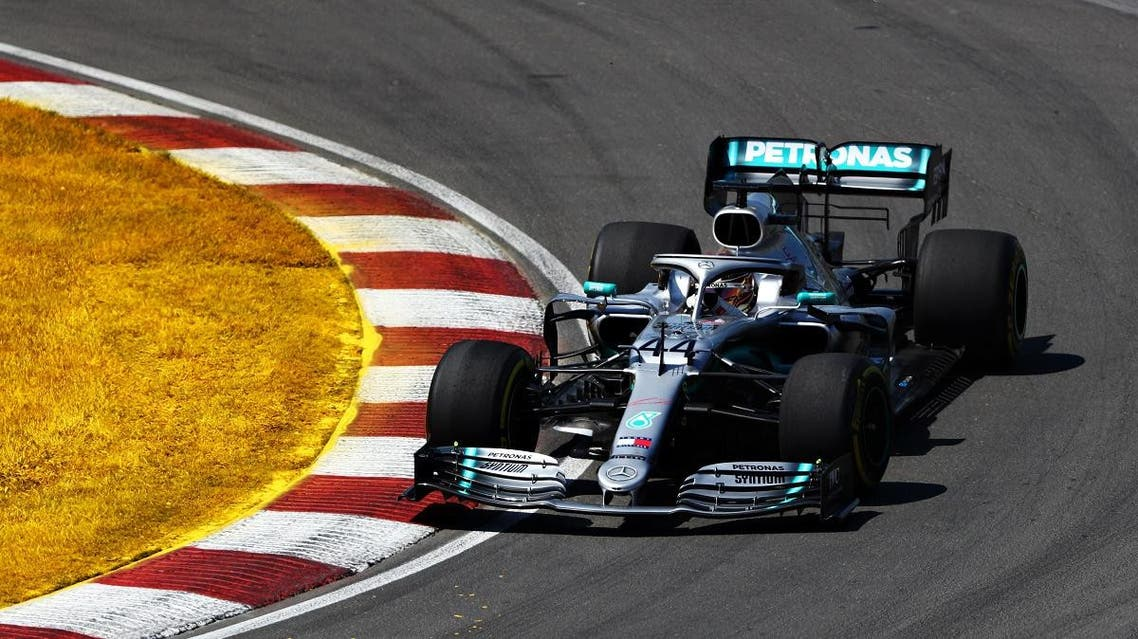 Lewis Hamilton of Great Britain driving the (44) Mercedes AMG Petronas F1 Team Mercedes W10 on track during the F1 Grand Prix of Canada at Circuit Gilles Villeneuve on June 09, 2019 in Montreal, Canada. (AFP)