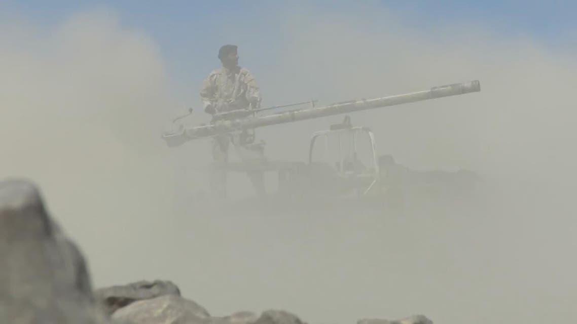 شاهد معارك صعدة والضالع تسقط قيادات حوثية