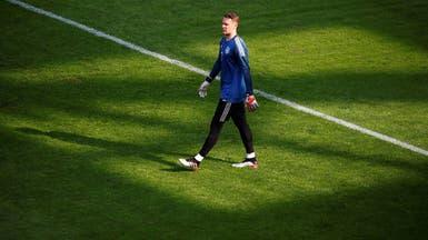 نوير يحمي شباك ألمانيا في مباراة إستونيا