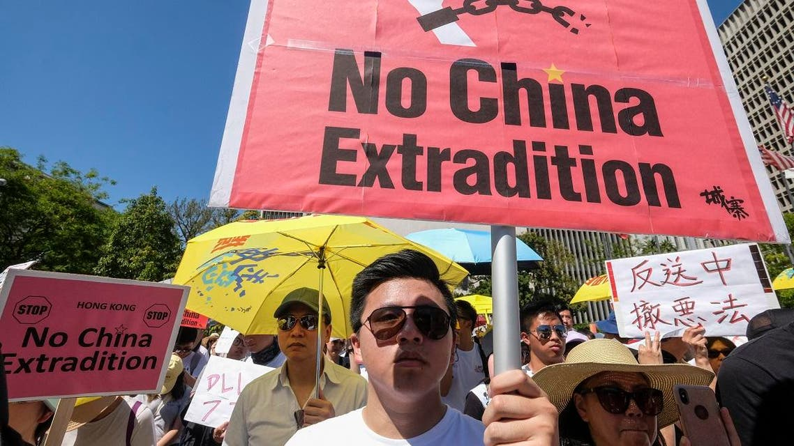 Protests against extradition in Hong Kong. (AFP)