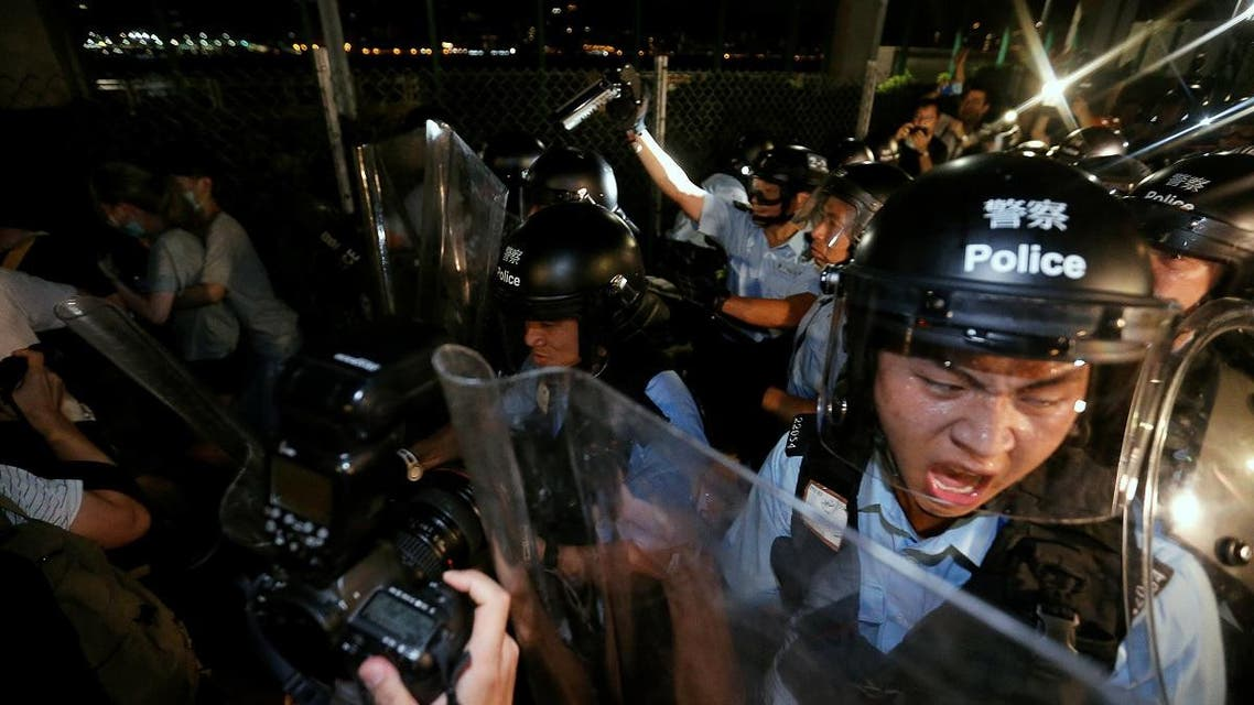Protest to demand authorities scrap a proposed extradition bill with China, in Hong Kong. (Reuters)