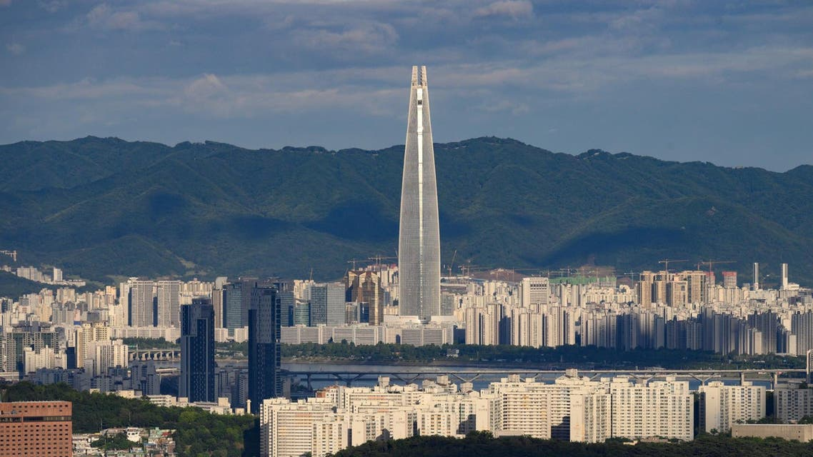 general view of the Seoul city skyline and landmark Lotte tower - South Korea AFP