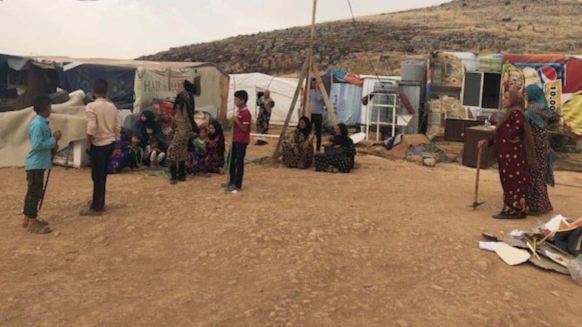 مخيم للاجئين السوريين في دير الأحمر (شرق لبنان)
