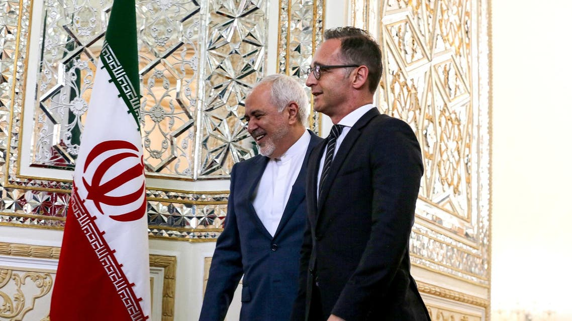 German FMHeiko Maas held talks with his Iranian counterpart Javad Zarif on the future of the 2015 nuclear deal. (AFP)