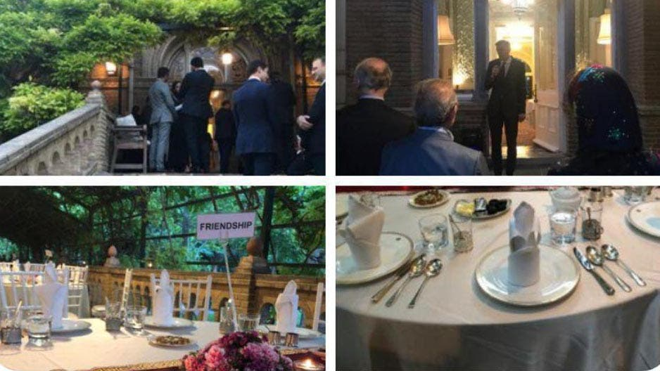 حفل افطار السفارة البريطانية في طهران