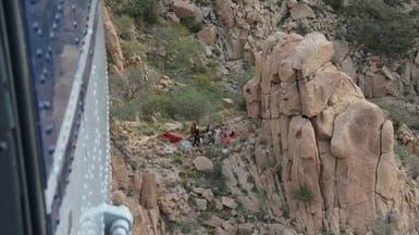 شاهد..طيران الأمن ينقذ مسناً سقط من مرتفع عال في الطائف